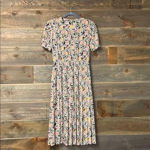 Liz Claiborne Vintage 80s Floral Dress Mod 6